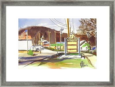 Fort Davidson Memorial Pilot Knob Missouri Framed Print