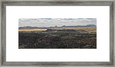 Fort Davis From Davis Mountains State Park Framed Print
