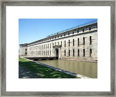 Fort Delaware Sally Port Entrance Framed Print