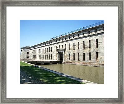 Fort Delaware Sally Port Entrance Framed Print by Pamela Hyde Wilson