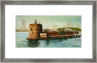 Fort Denison 1930's - Pinchgut Framed Print