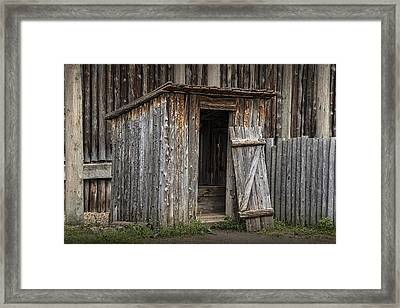 Fort Edmonton Park Wooden Outhouse Framed Print