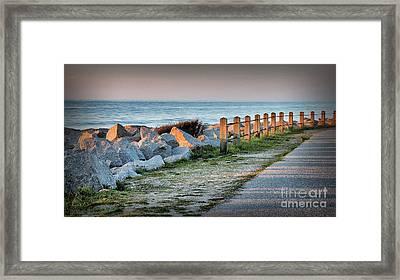 Fort Fisher Rocks At  Sunrise Framed Print by Phil Mancuso