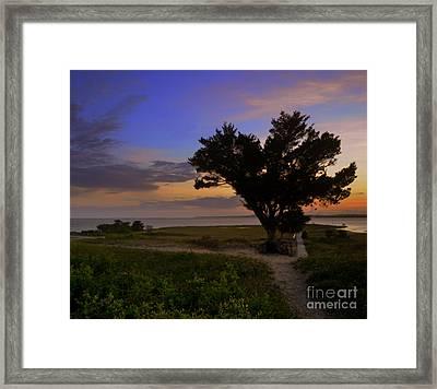 Fort Fisher Sunset  Framed Print