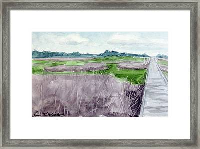 Fort Fisher's Path Framed Print