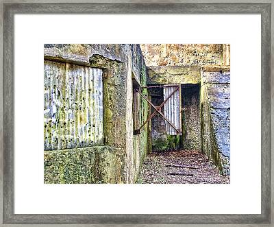 Fort Fremont Open Window Framed Print by Scott Hansen