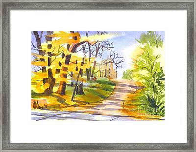 Fort Hill In Arcadia Framed Print by Kip DeVore
