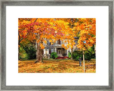 Fort Hunter Autumn Framed Print