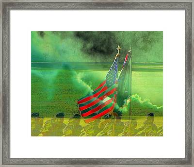 Fort Jackson Ceremony Framed Print by Cathy Lindsey