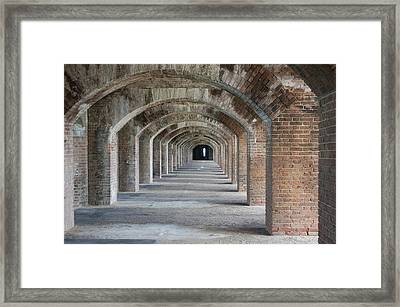Fort Jefferson Arches Framed Print
