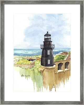 Fort Jefferson Light House Framed Print