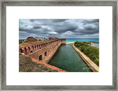 Fort Jefferson Moat Framed Print by Adam Jewell