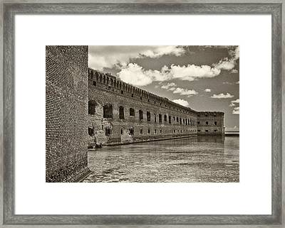 Fort Jefferson Framed Print by Patrick M Lynch