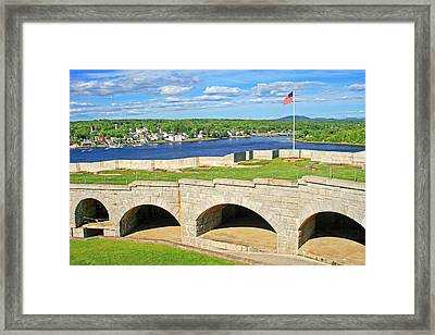 Fort Knox In Maine Framed Print