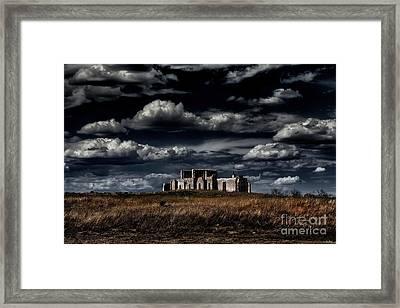 Fort Laramie Hospital Ruins Framed Print by Jon Burch Photography