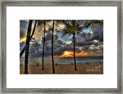 Fort Lauderdale Beach Florida - Sunrise Framed Print