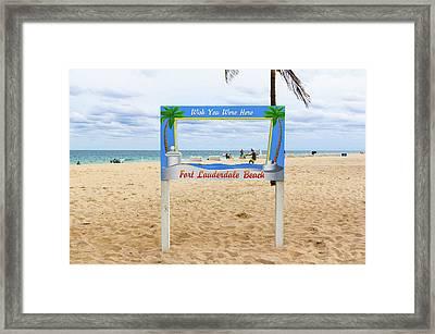 Fort Lauderdale Beach Sign - Wish Framed Print