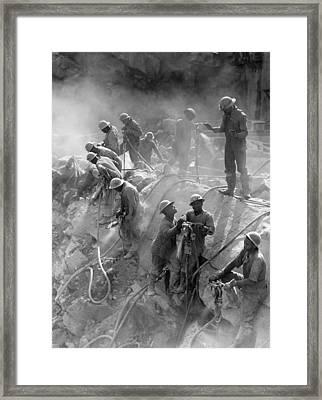 Fort Loudoun Dam, 1942 Framed Print by Granger