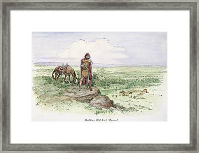 Fort Manuel, Montana Framed Print by Granger