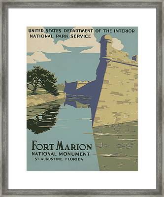 Fort Marion Framed Print by American Classic Art