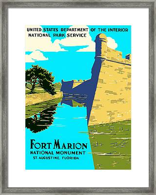 Fort Marion - Castillo De San Marcos Framed Print by Mark E Tisdale