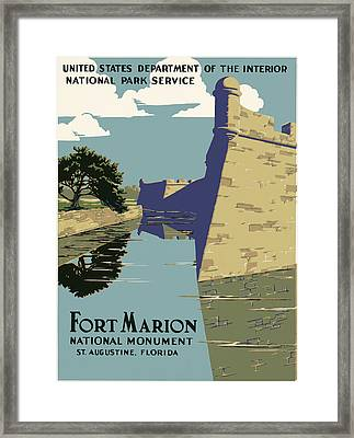 Fort Marion National Monument Framed Print by Georgia Fowler
