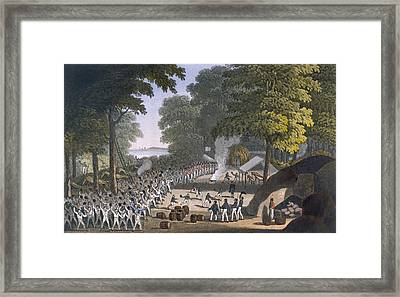 Fort Maxwell, 1820 Framed Print