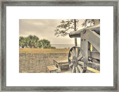 Fort Mcallister Cannon Framed Print