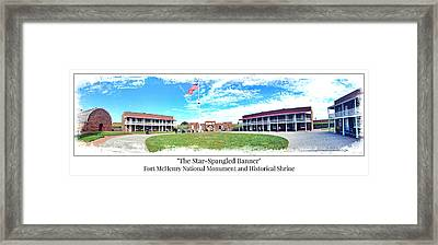 Fort Mchenry Panorama Framed Print
