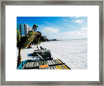 Fort Meyers Beach Framed Print by Caroline Gilmore