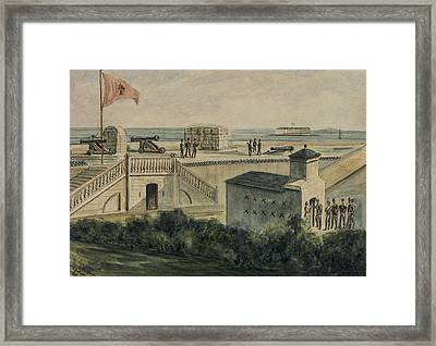 Fort Moultrie Circa 1861 Framed Print by Aged Pixel