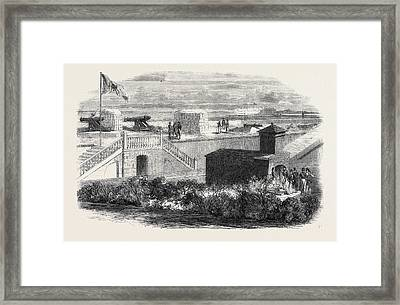 Fort Moultrie In Charleston Harbour South Carolina Framed Print by English School