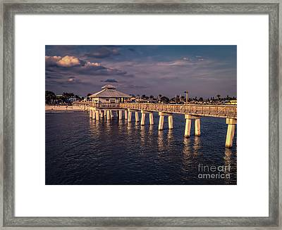 Fort Myers Beach Fishing Pier Framed Print