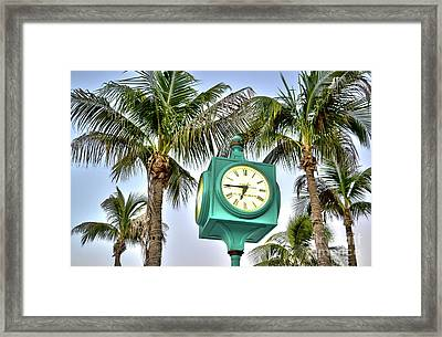 Fort Myers Beach Florida Times Square 3 Framed Print by Timothy Lowry
