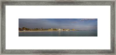 Fort Myers Beach Panorama Framed Print by Anne Rodkin