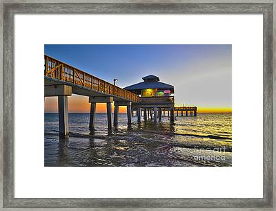 Fort Myers Beach Pier 3 Framed Print