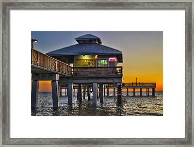 Fort Myers Beach Pier 4 Framed Print