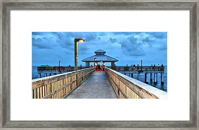 Framed Print featuring the photograph Fort Myers Beach Pier by Rosemary Aubut