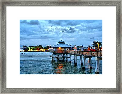 Framed Print featuring the photograph Fort Myers Beach by Rosemary Aubut