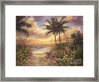 Fort Myers Sunset Framed Print