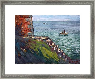 Fort Niagara By Lake Ontario Framed Print