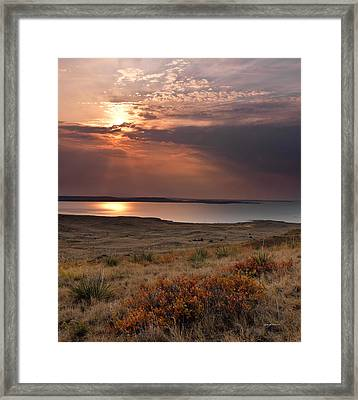 Fort Peck Lake Framed Print by Leland D Howard