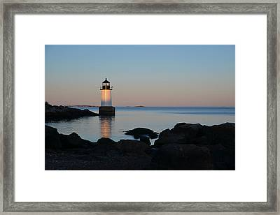 Fort Pickering Lighthouse Winter Island Salem Ma Framed Print by Toby McGuire