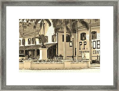 Fort Pierce Florida In Sepia Framed Print