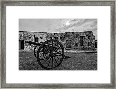 Fort Pike Cannon Framed Print by Andy Crawford