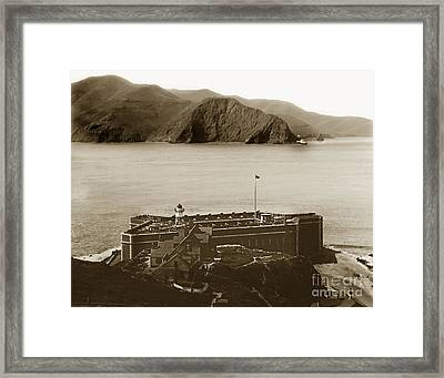 Fort Point And The Golden Gate San Francisco Circa 1890 Framed Print by California Views Mr Pat Hathaway Archives