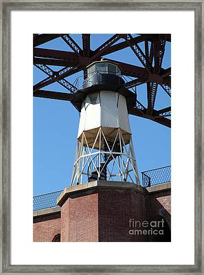 Fort Point Light House And The Golden Gate Bridge 5d21486 Framed Print by Wingsdomain Art and Photography