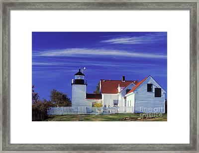 Fort Point Light Framed Print