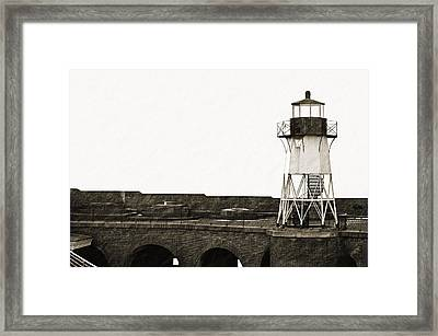 Fort Point Lighthouse Framed Print