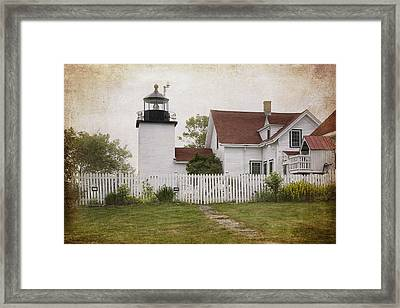 Fort Point Lighthouse Framed Print by Joan Carroll